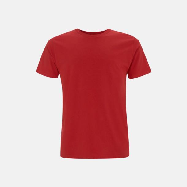 Röd (unisex) Eko t-shirts för vuxna & barn - med reklamtryck