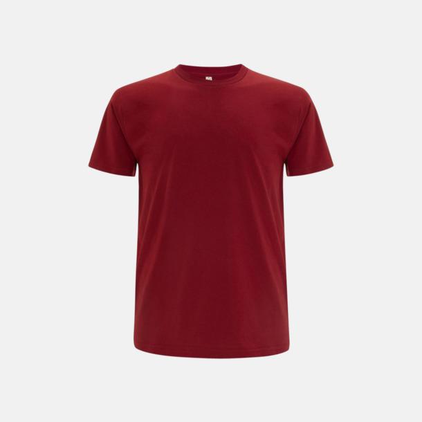 Mörkröd (unisex) Eko t-shirts för vuxna & barn - med reklamtryck