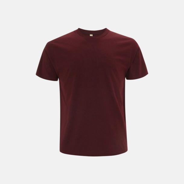 Burgundy (unisex) Eko t-shirts för vuxna & barn - med reklamtryck
