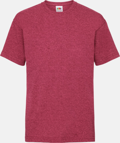 Vintage Heather Red T-shirt barn - Valueweigth barn t-shirt