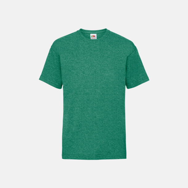 Retro Heather Green T-shirt barn - Valueweigth barn t-shirt