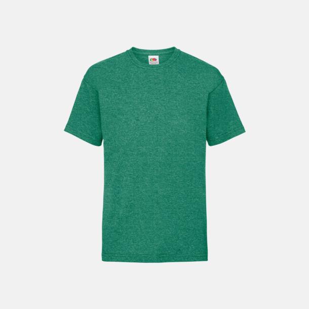Retro Heather Green T-shirt barn - Valueweigth barn t-shirt