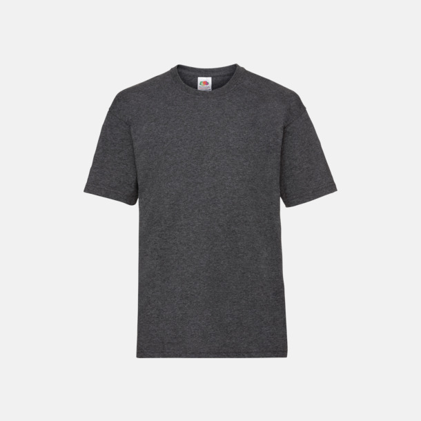 Dark Grey Heather T-shirt barn - Valueweigth barn t-shirt