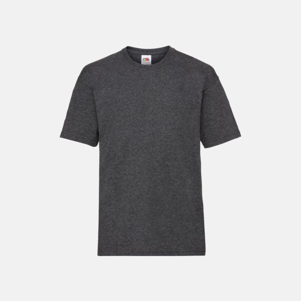 Dark Grey Heather T-shirt barn - Valueweigth barn t-shirt