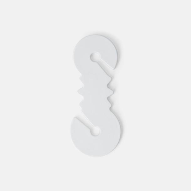 Vit Plastmynt med kabelsnurra för 10 SEK  & 1 Euro med reklamtryck