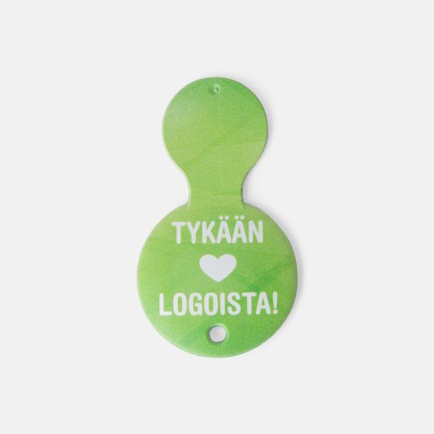 1-Euro eller 10-SEK plastmynt med reklamtryck
