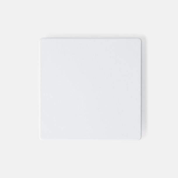 Vit (40 x 40 mm) Kylskåpsmagneter med tryck