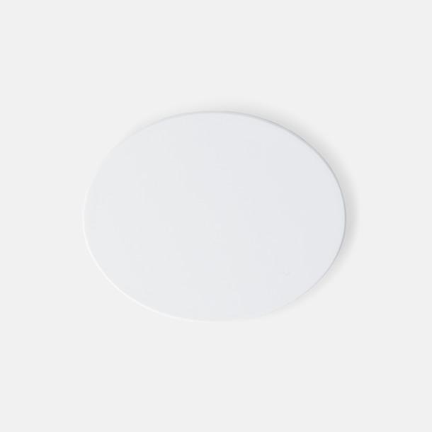 Vit (46 x 37 mm) Kylskåpsmagneter med tryck