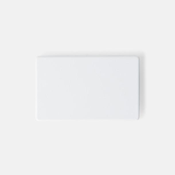 Vit (40 x 25 mm) Kylskåpsmagneter med tryck