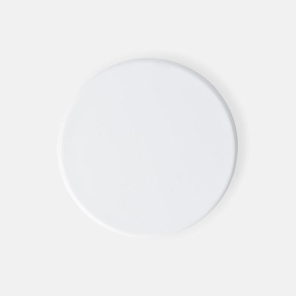 Vit (ø 40 mm) Kylskåpsmagneter med tryck