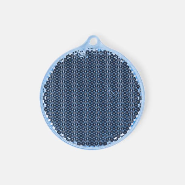 Blå Klassisk reflexbricka med reklamtryck