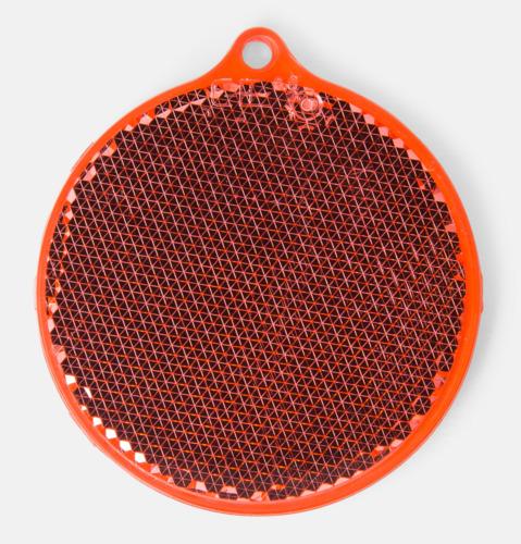 Röd Klassisk reflexbricka med reklamtryck