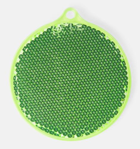 Grön Klassisk reflexbricka med reklamtryck