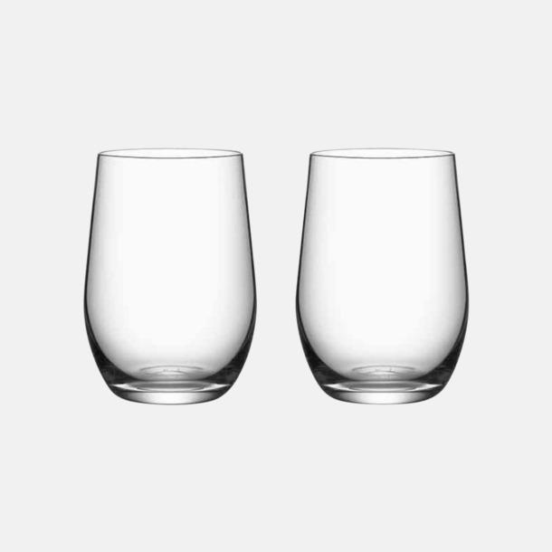 2-pack glas (medgåva) Gåvokort med kända varumärken och chans till välgörenhet