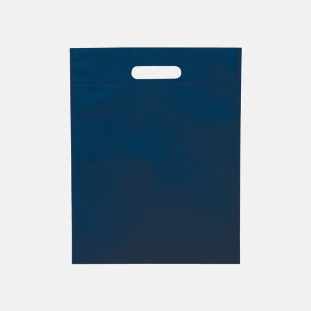 Marinblå Stora påsar med stansade handtag - med reklamtryck