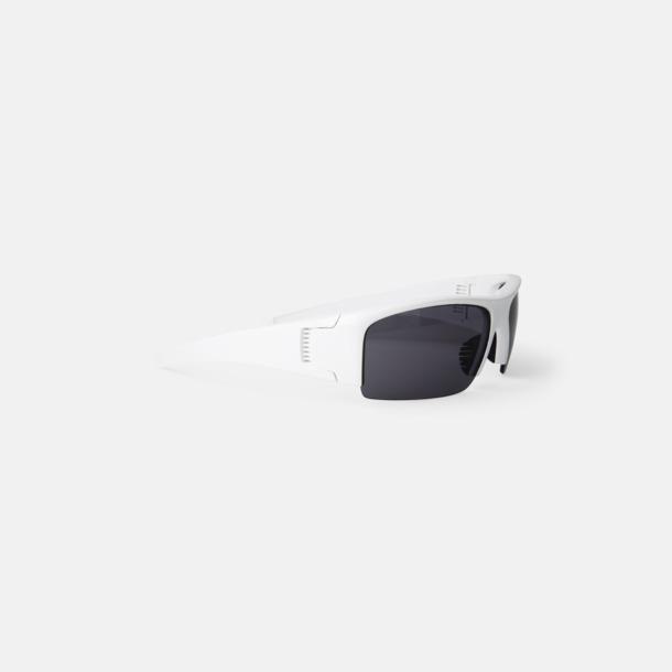 Vit Reklamglasögon med tryck