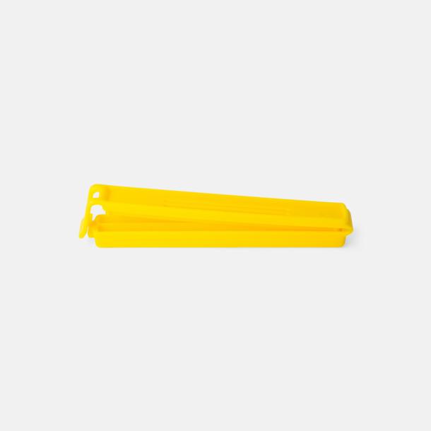 Gul (110 mm) Påsklämmor i 4 storlekar med reklamtryck