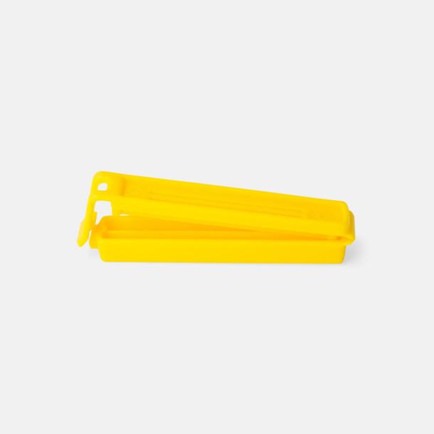 Gul (80 mm) Påsklämmor i 4 storlekar med reklamtryck