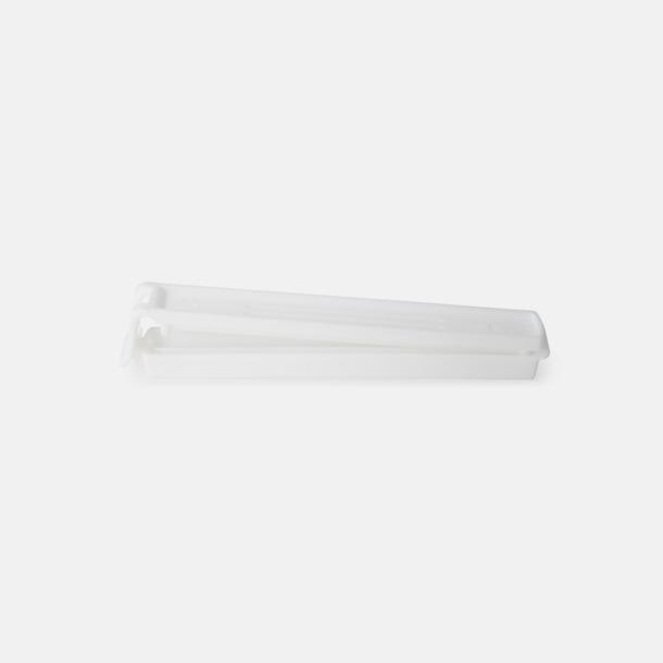 Vit (110 mm, mer stängd) Påsklämmor i 4 storlekar med reklamtryck