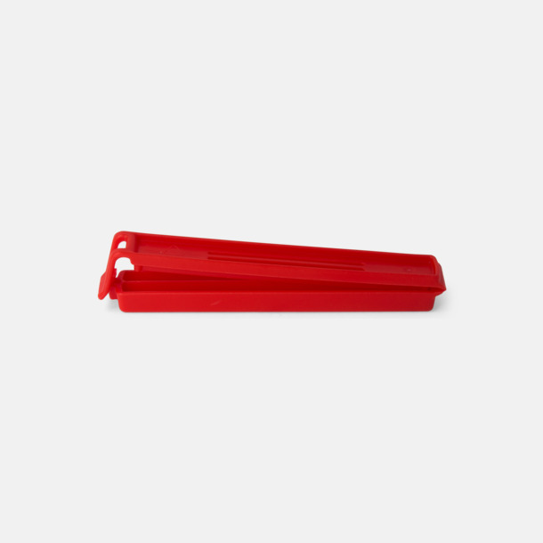 Röd (110 mm) Påsklämmor i 4 storlekar med reklamtryck