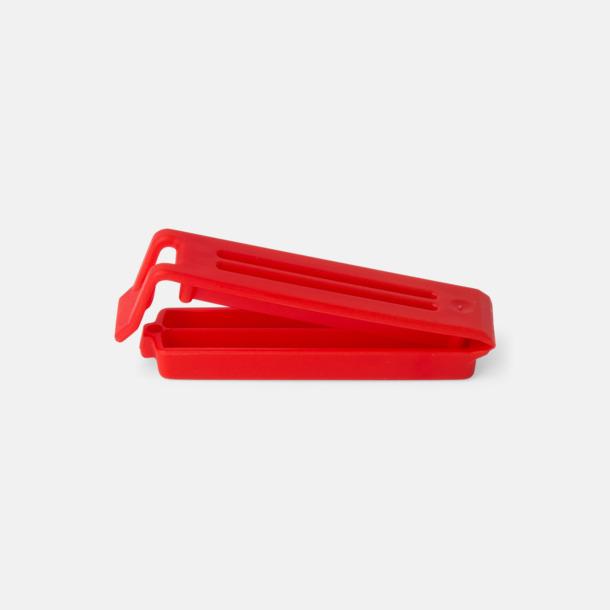Röd (60 mm) Påsklämmor i 4 storlekar med reklamtryck