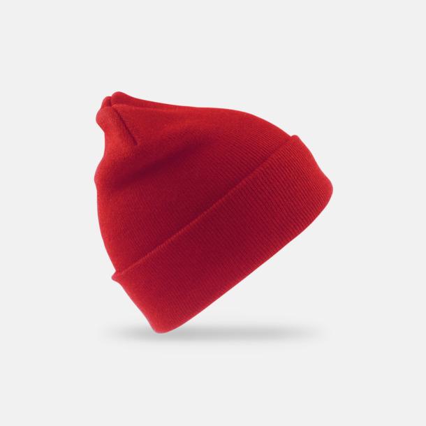 Röd Varma mössor för vuxna & barn - med reklamtryck