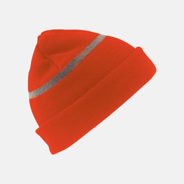 Fluorescerande Orange (barn) Varma vintermössor för vuxna & barn med reklamlogo