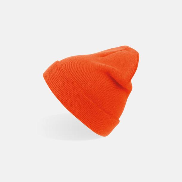 Orange (vuxen) Beaniemössor för vuxna & barn - med reklamlogo