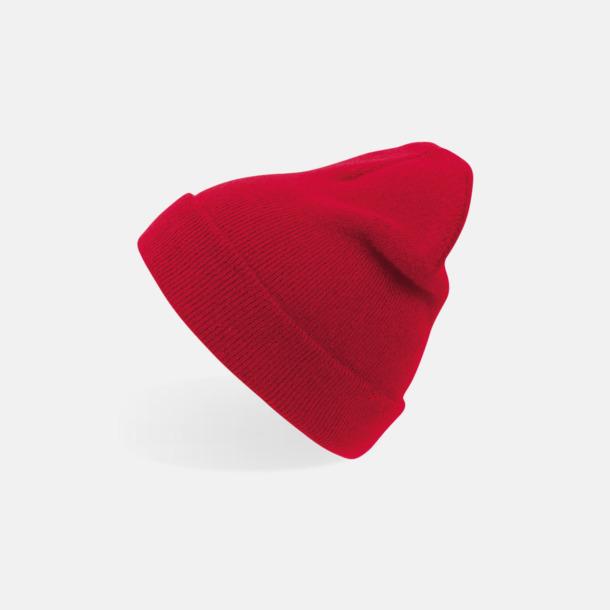 Röd (vuxen) Beaniemössor för vuxna & barn - med reklamlogo
