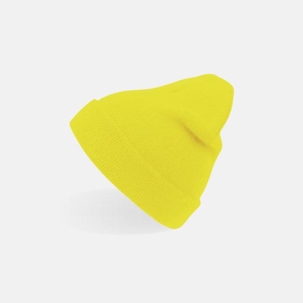 Yellow Fluo (vuxen) Beaniemössor för vuxna & barn - med reklamlogo