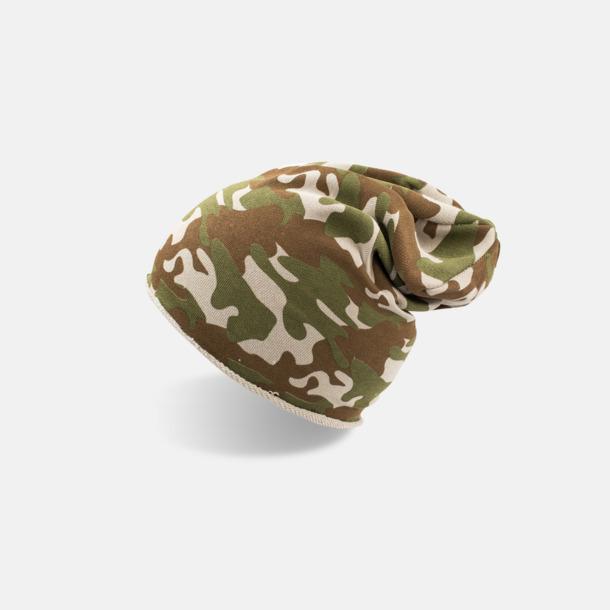 Camouflage Oversize barnmössor med reklamlogo