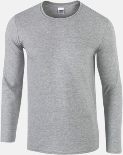 Sport Grey heather (herr) Billiga, långärmade t-shirts med reklamtryck