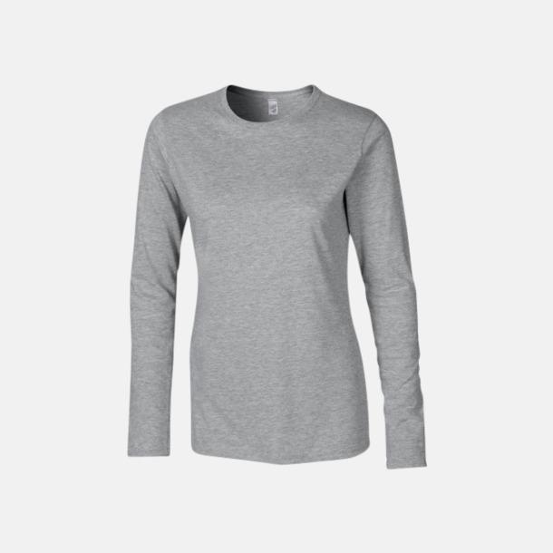 Sport Grey heather (dam) Billiga, långärmade t-shirts med reklamtryck