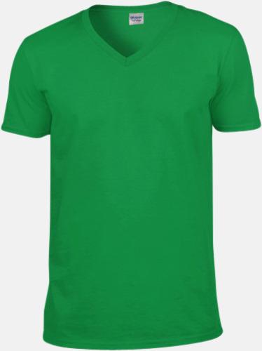 Irish Green (herr) Billiga v-ringade t-shirts med reklamtryck