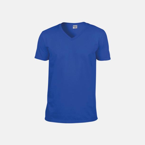 Royal (herr) Billiga v-ringade t-shirts med reklamtryck