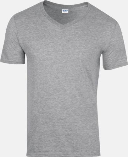 Sport Grey heather (herr) Billiga v-ringade t-shirts med reklamtryck