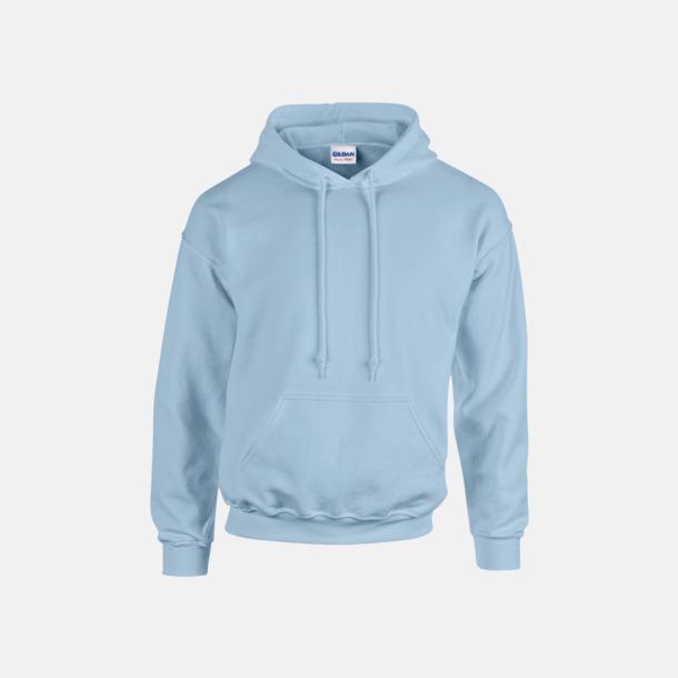 Ljusblå (endast vuxen) Vuxen- & barn hoodies med reklamtryck