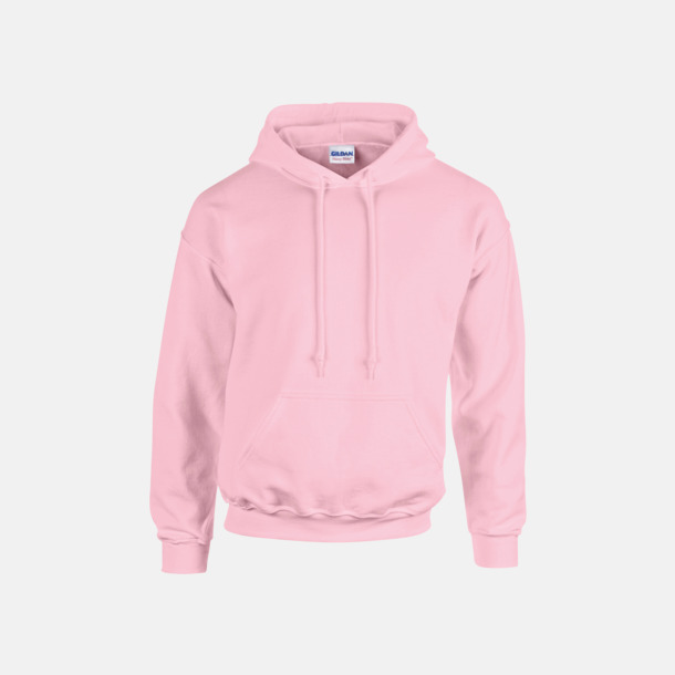 Ljusrosa (vuxen) Vuxen- & barn hoodies med reklamtryck