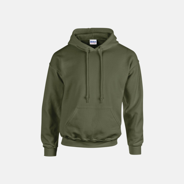 Military Green (endast vuxen) Vuxen- & barn hoodies med reklamtryck