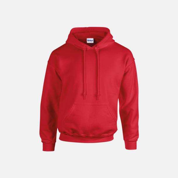 Röd (vuxen) Vuxen- & barn hoodies med reklamtryck