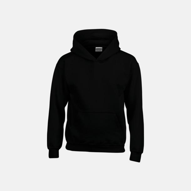 Svart (barn) Vuxen- & barn hoodies med reklamtryck