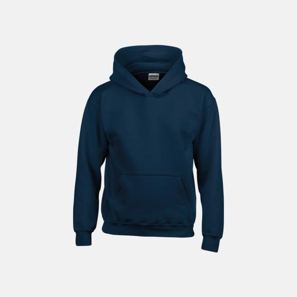 Marinblå (barn) Vuxen- & barn hoodies med reklamtryck