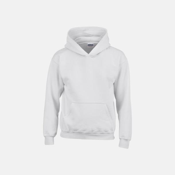 Vit (barn) Vuxen- & barn hoodies med reklamtryck