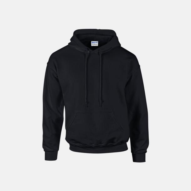 Svart Unisex hoodies från Gildan med reklamtryck