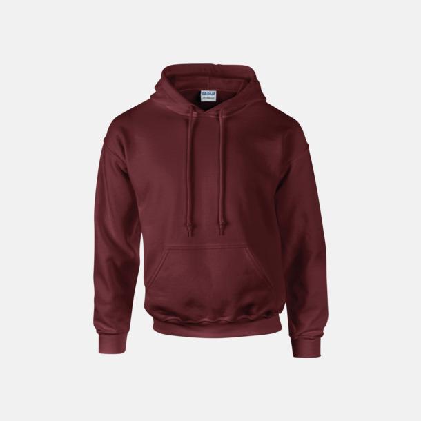 Maroon Unisex hoodies från Gildan med reklamtryck