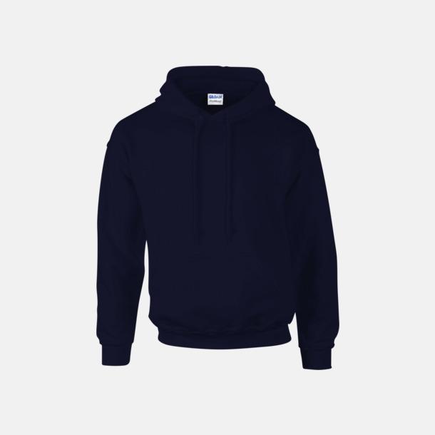 Marinblå Unisex hoodies från Gildan med reklamtryck