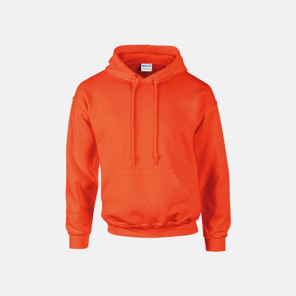 Orange Unisex hoodies från Gildan med reklamtryck