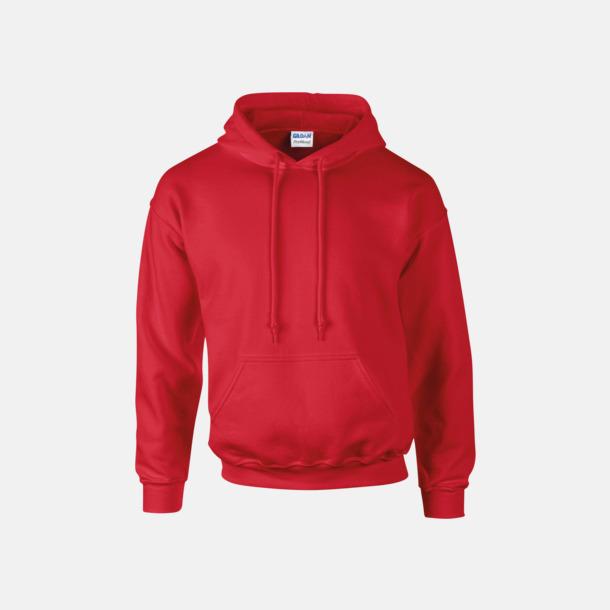Röd Unisex hoodies från Gildan med reklamtryck
