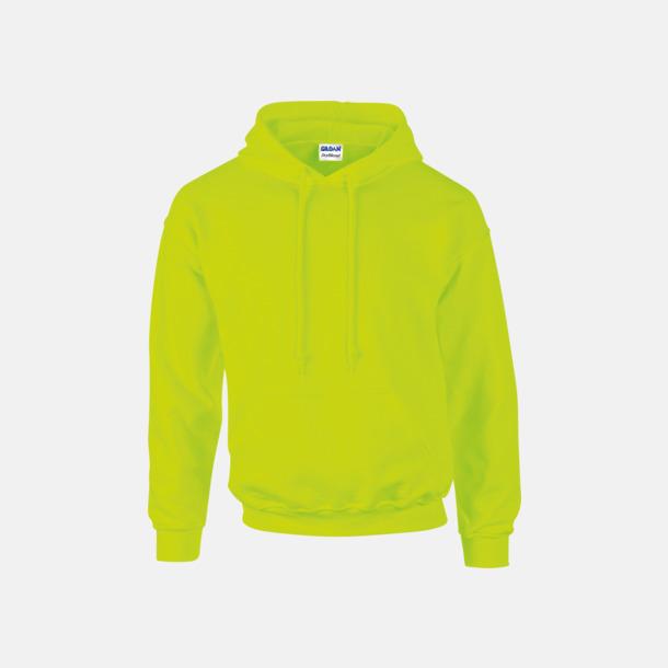 Safety Green Unisex hoodies från Gildan med reklamtryck