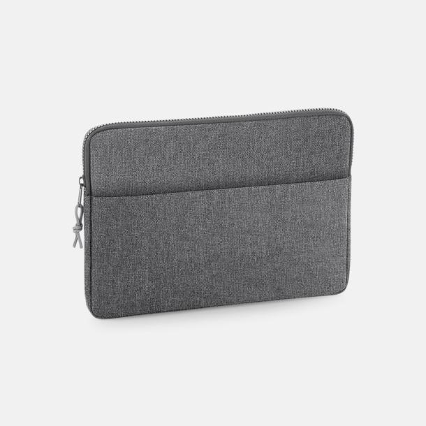 "Grey Marl (13"") 13"" eller 15"" laptop-fodral med reklamtryck"